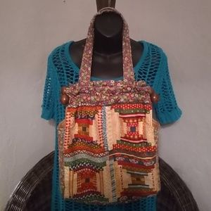 Vintage Carpet Baggers of America Patchwork Tote